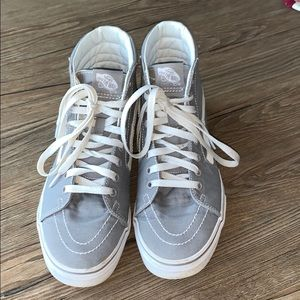 Vans Women's Grey High Tops 8.5